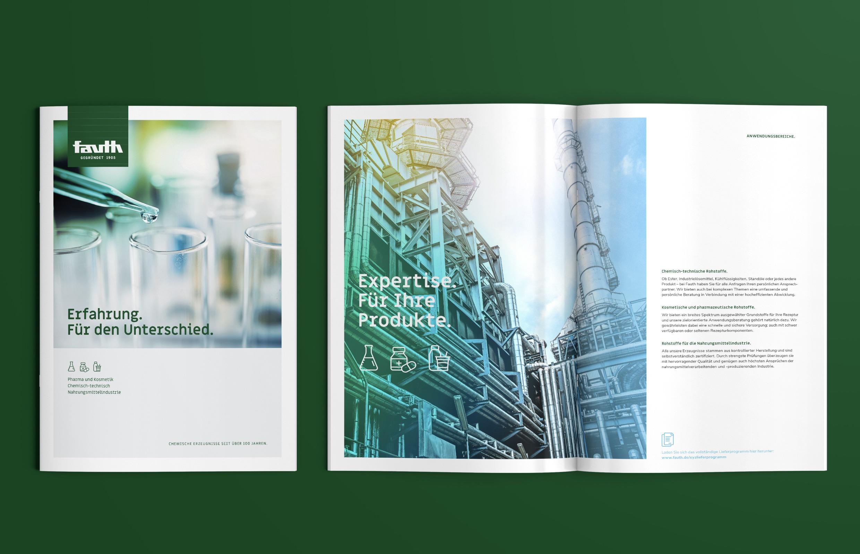 Fauth Chemie – neue Imagebroschüre DIN A4 hochkant