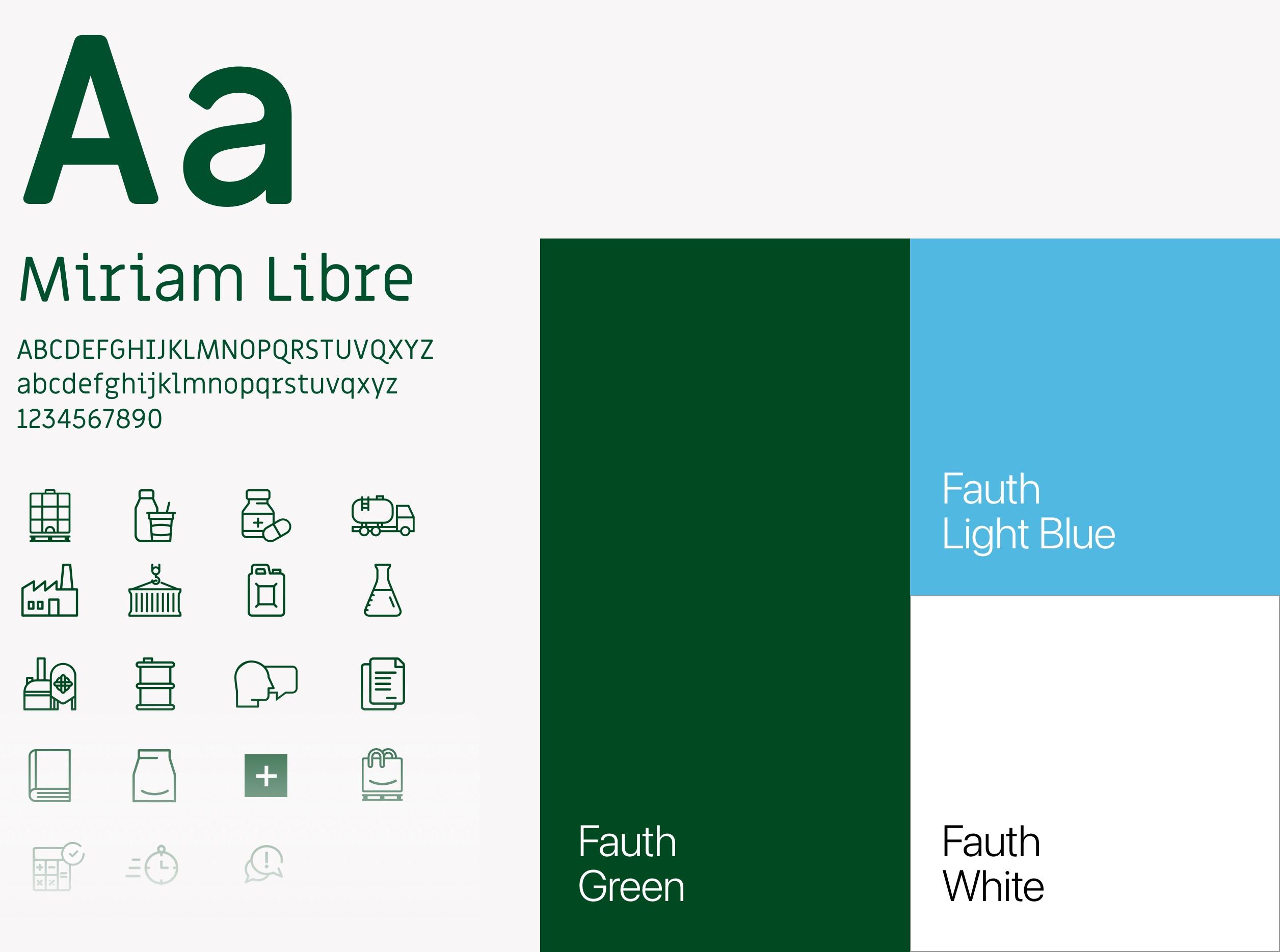Fauth Chemie – neues Corporate Design: neue Typografie, Iconset, Farbklima