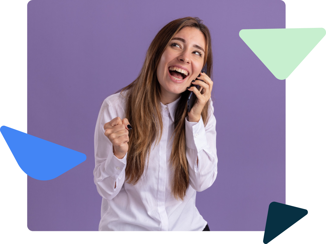 woman answering a cell phone