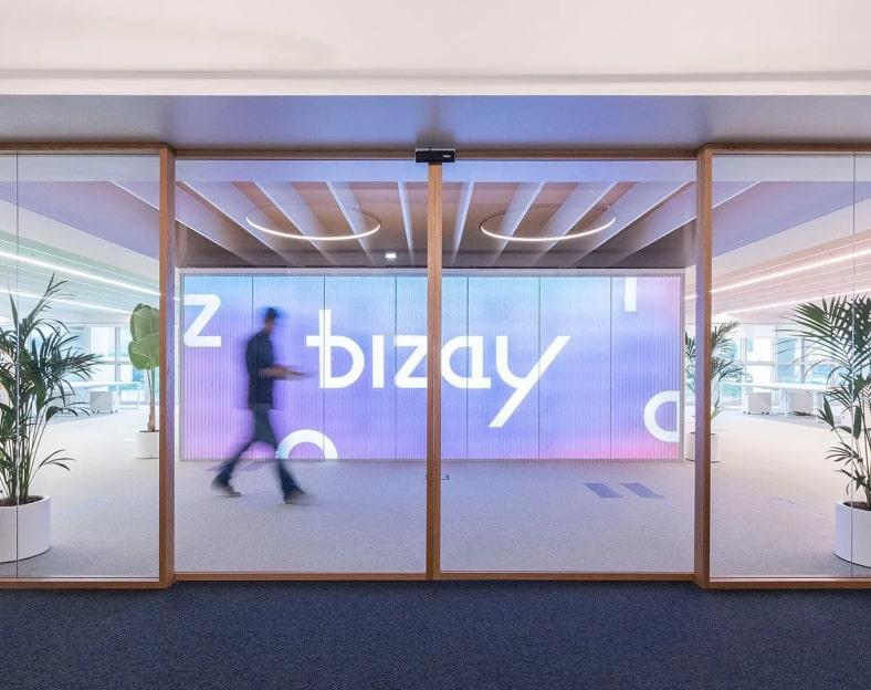 Bizay building lobby.