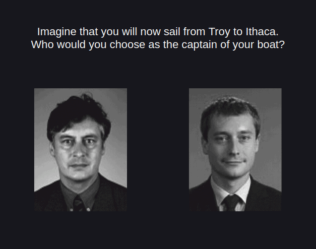Two photos of two men side by side.