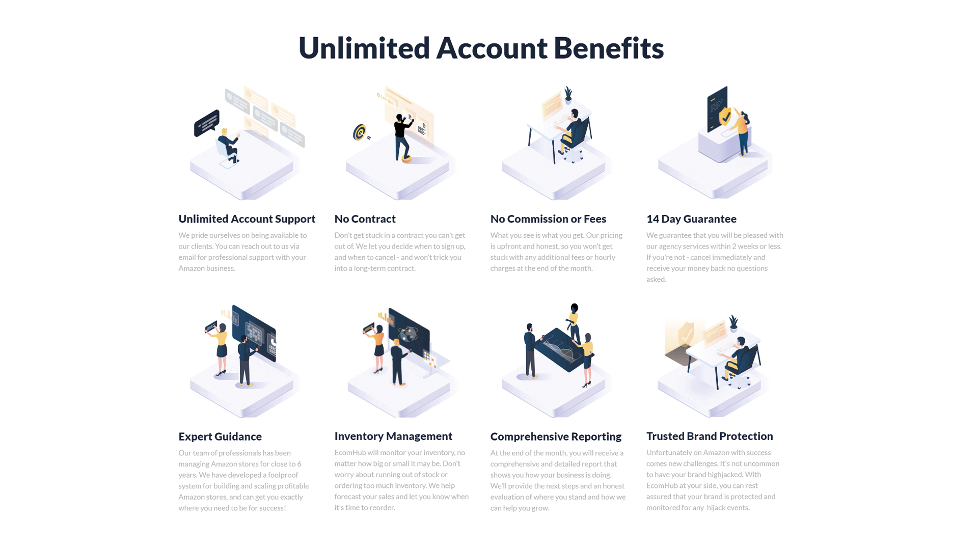 The unlimited account benefits of our Agency Program.