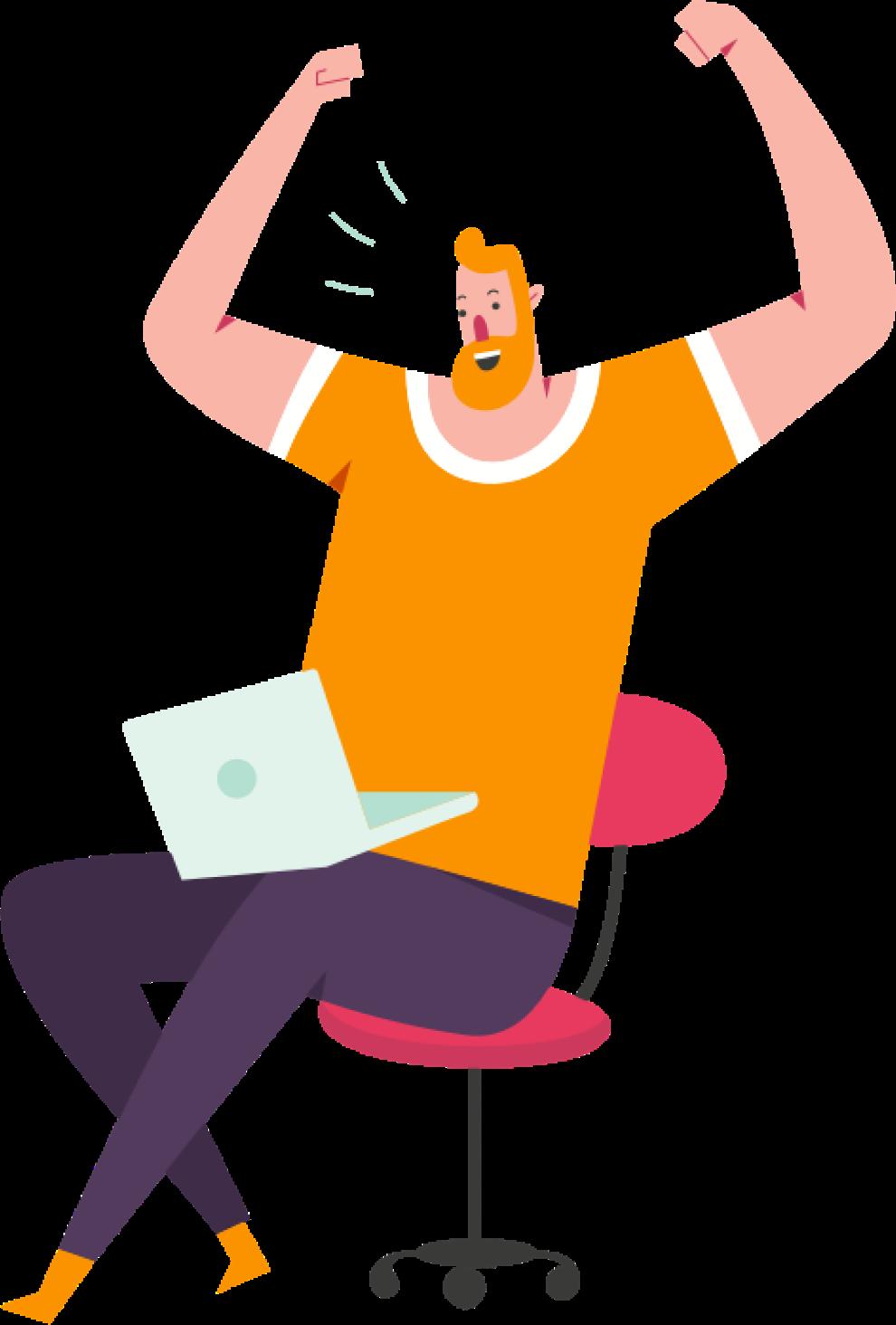 Expert-comptable heureux grâce à la solution SESHA
