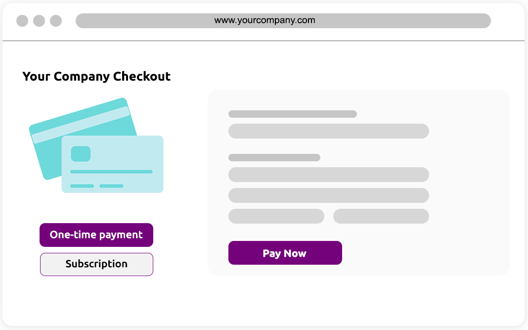 Your company checkout with multiple checkout options