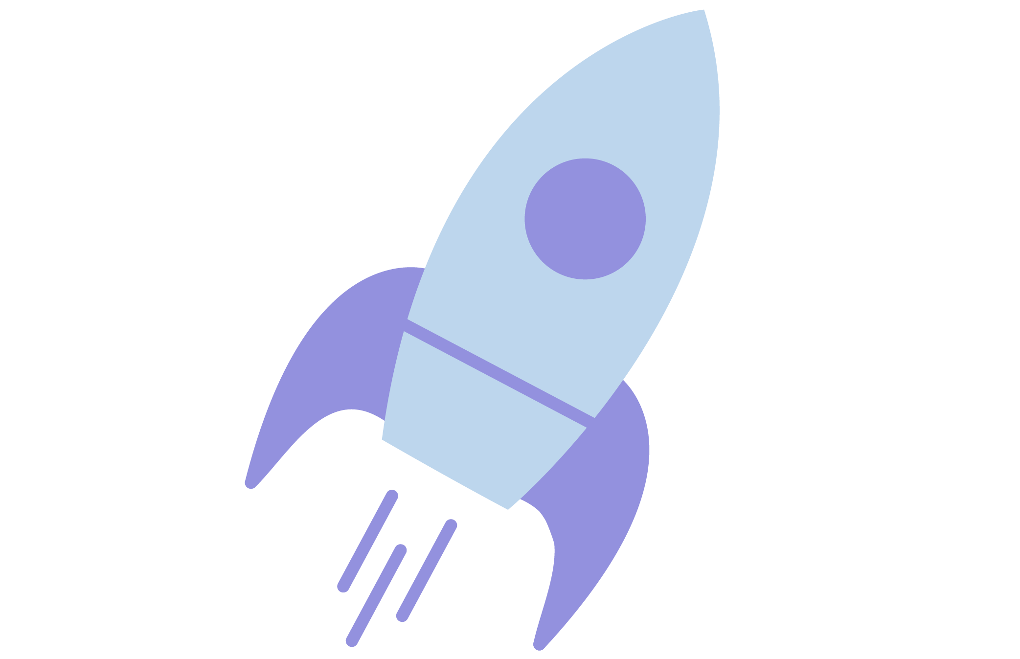 Purple rocket icon