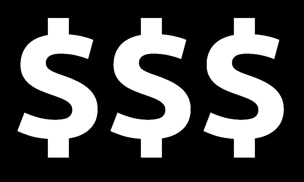 3 dollar signs