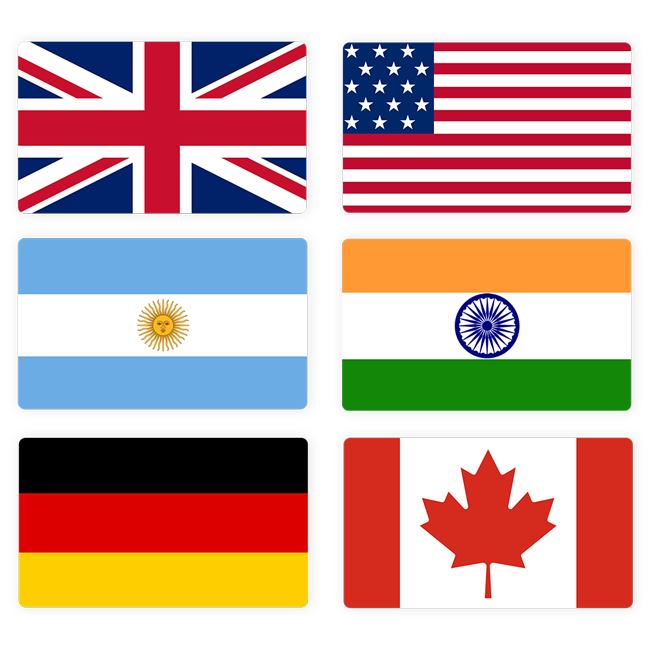 Flags to show currency acceptance