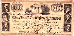 Promissory note - 2nd Bank of US $1000