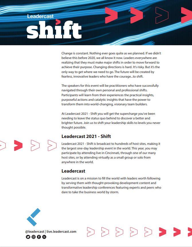 Leadercast Speakers