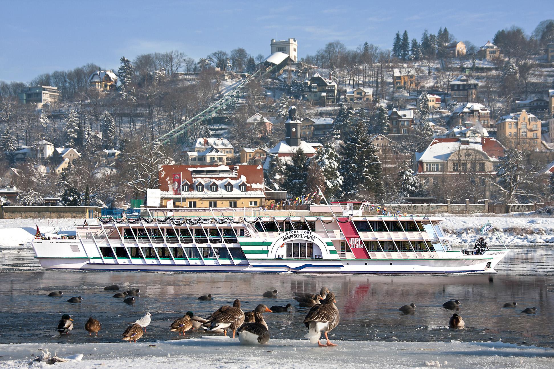 Adventslunch auf der Elbe
