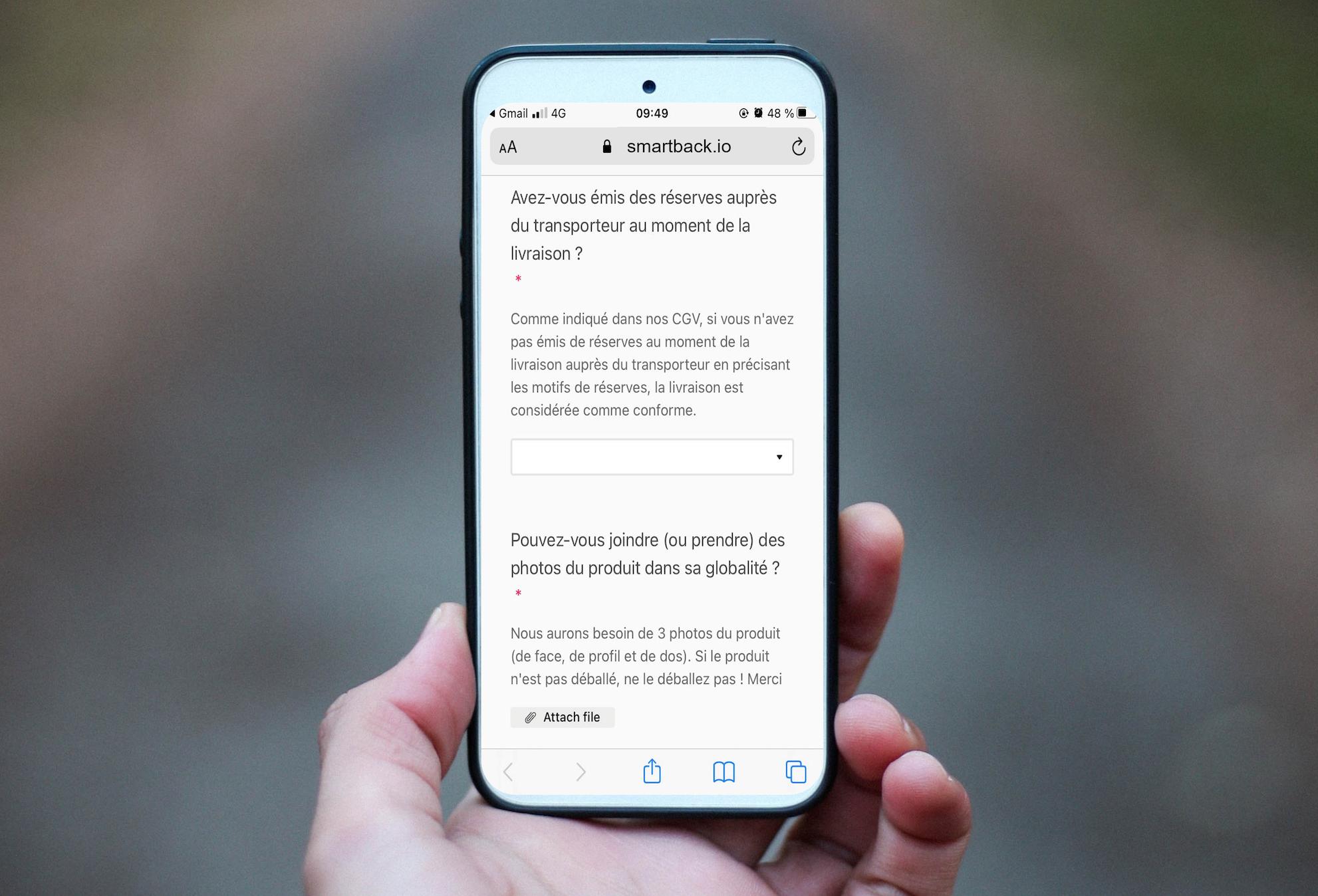 Expérience client retours-smartback