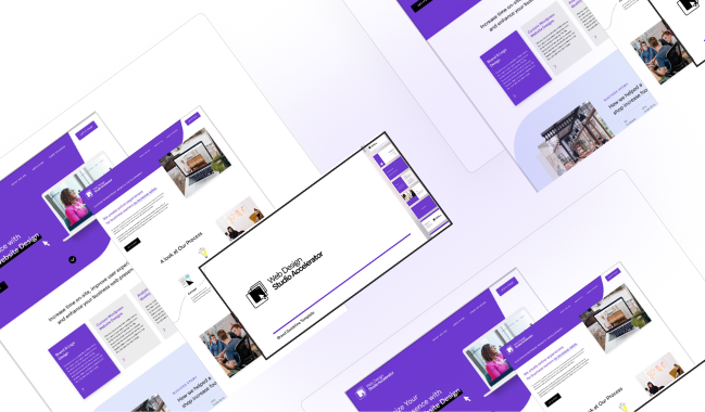 Web Design Studio Accelerator webpage wireframes mockups