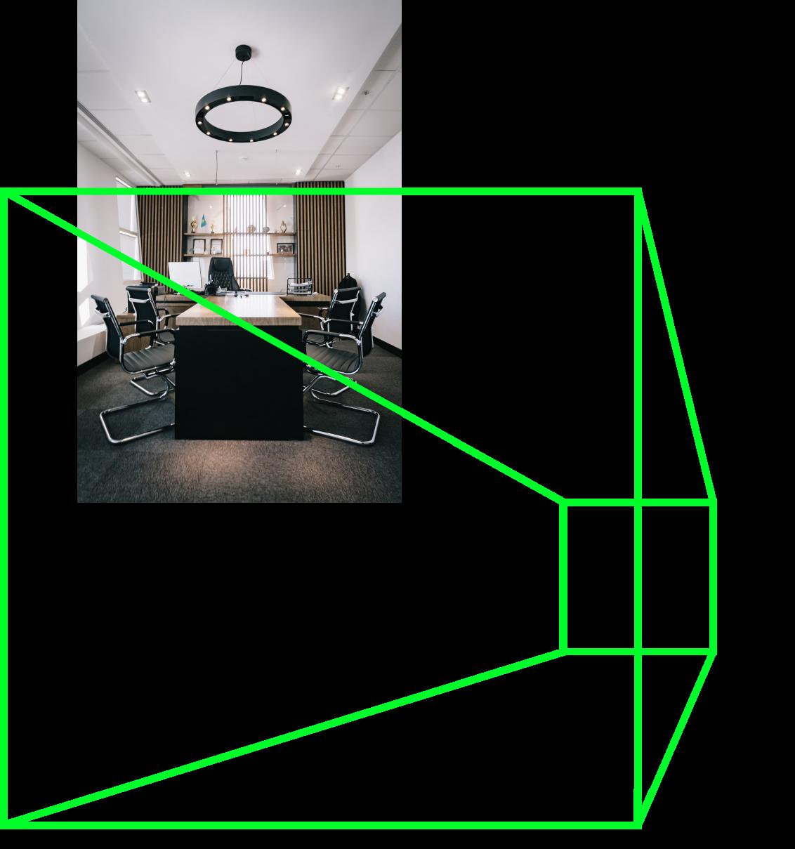 An empty office room