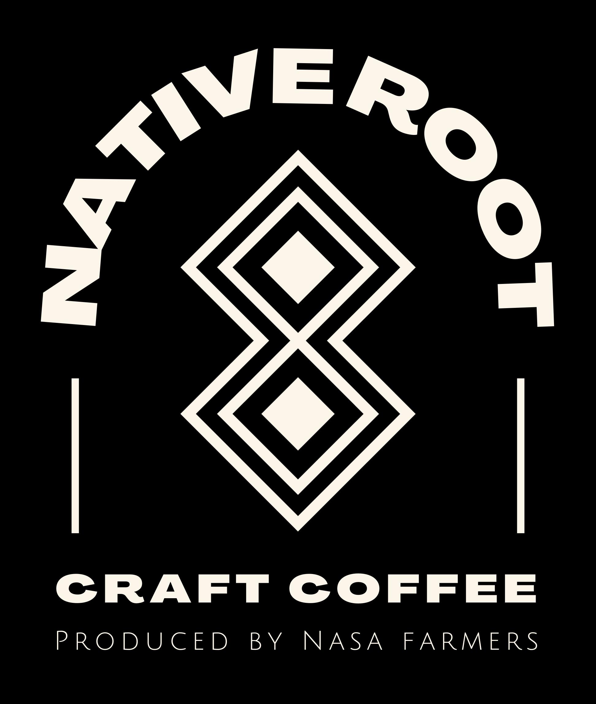 Native Root Craft Coffee black seal  logo