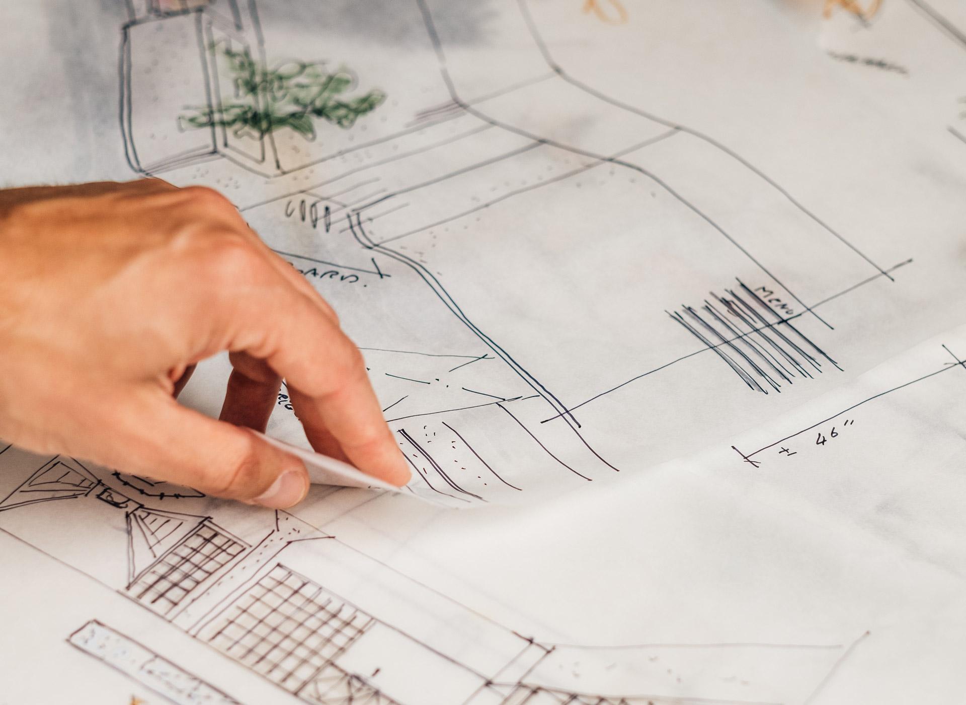 Plan de design intérieur