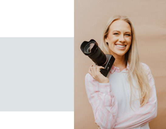 Picture of Sydney holding a camera