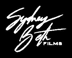 Sydney Beth Films Primary Logo in white.