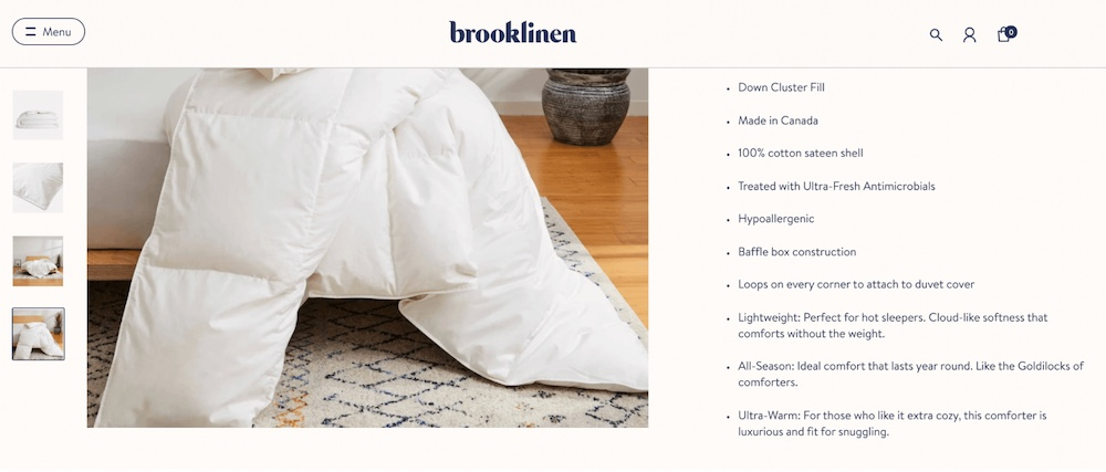 brooklinen product description