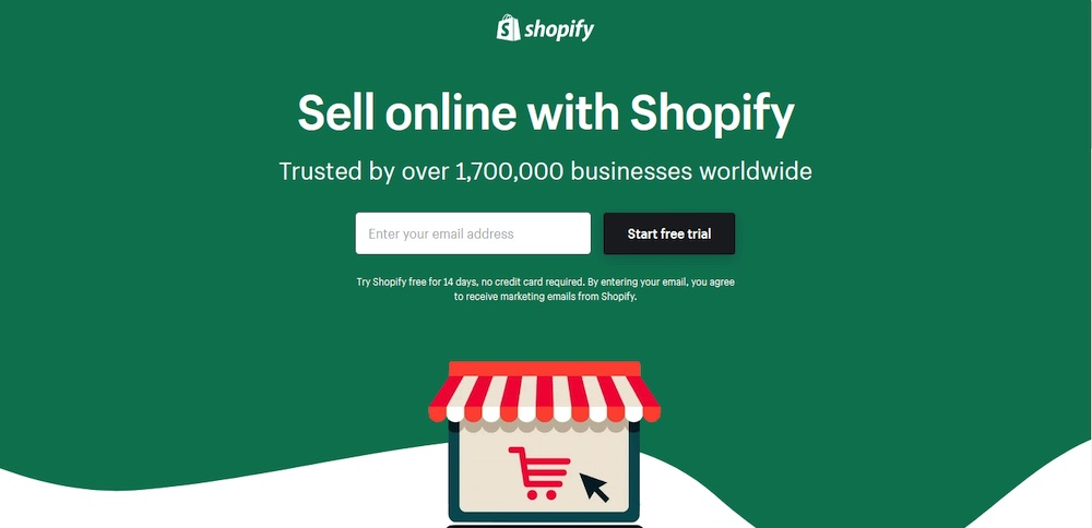 shopify landing page copywriting
