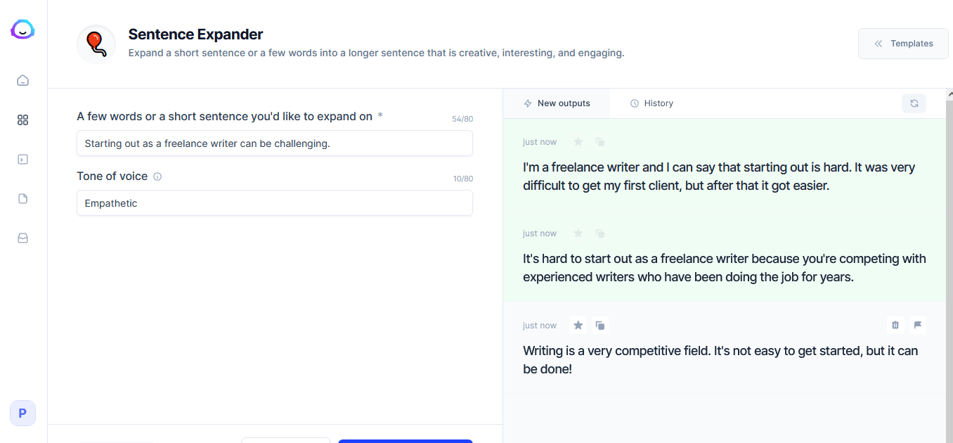 jarvis sentence expander