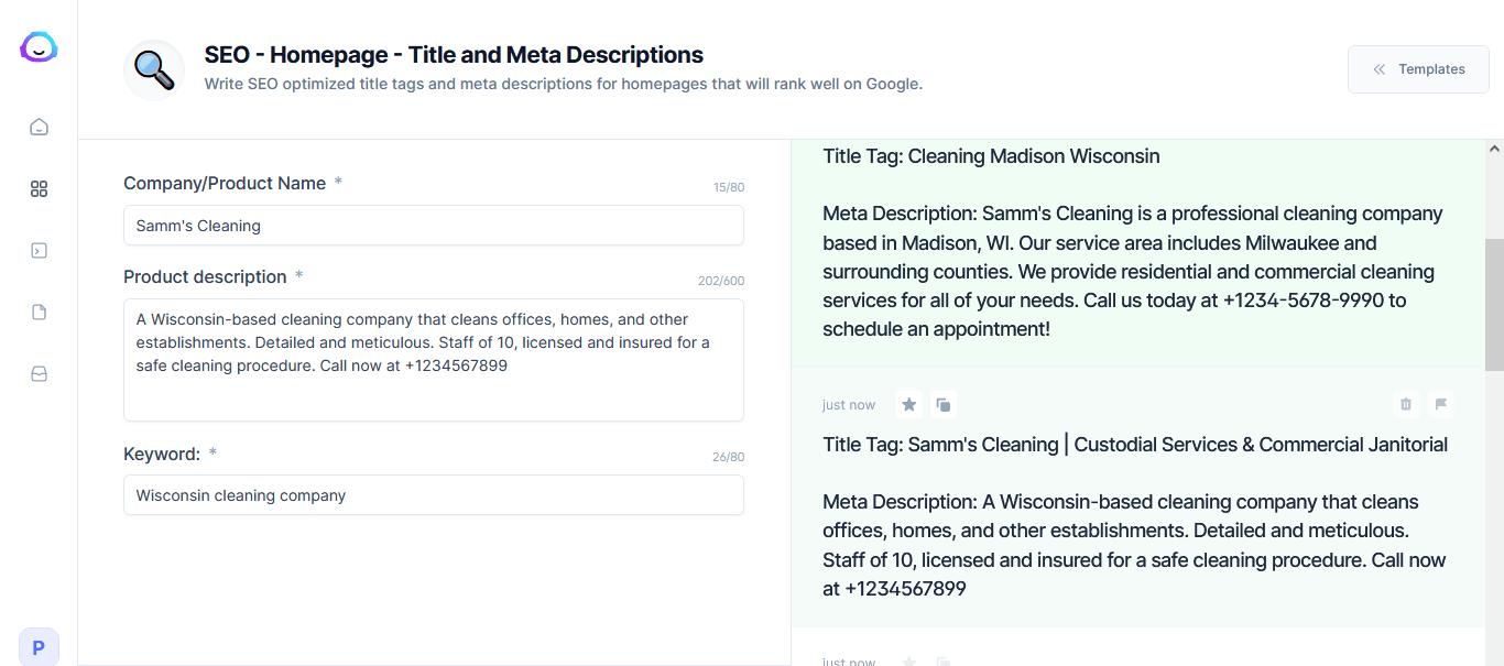 jarvis home page meta description generator 2