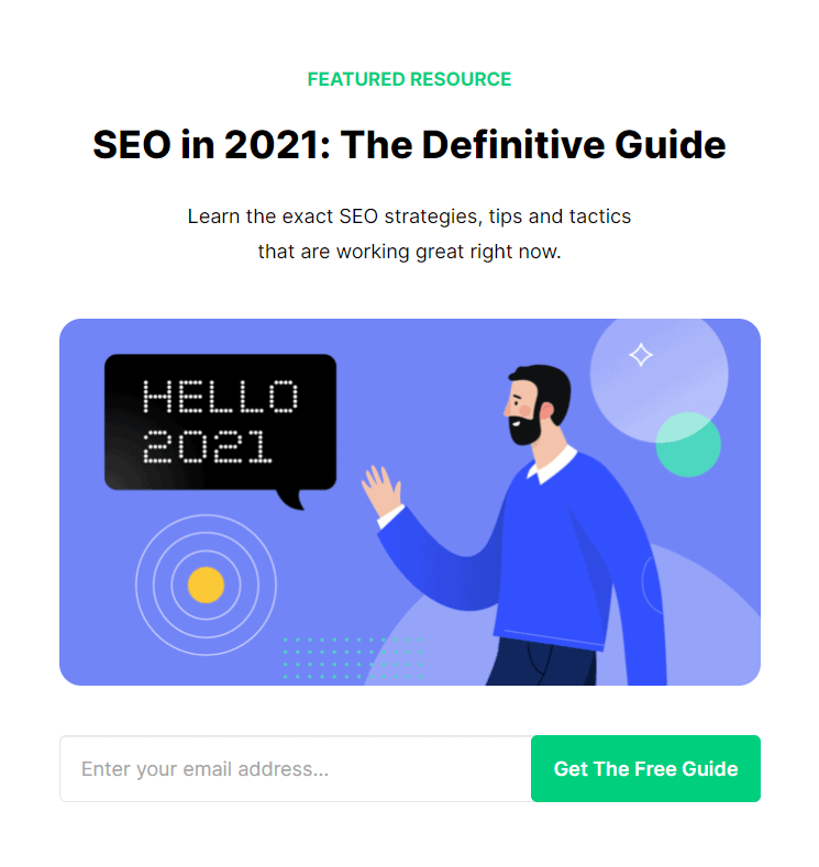 Backlinko 2021 SEO Guide - Cornerstone Content Example