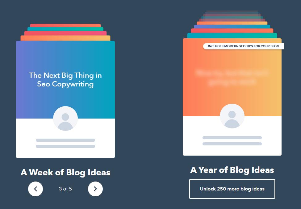 HubSpot Blog Topic Generator Output Example