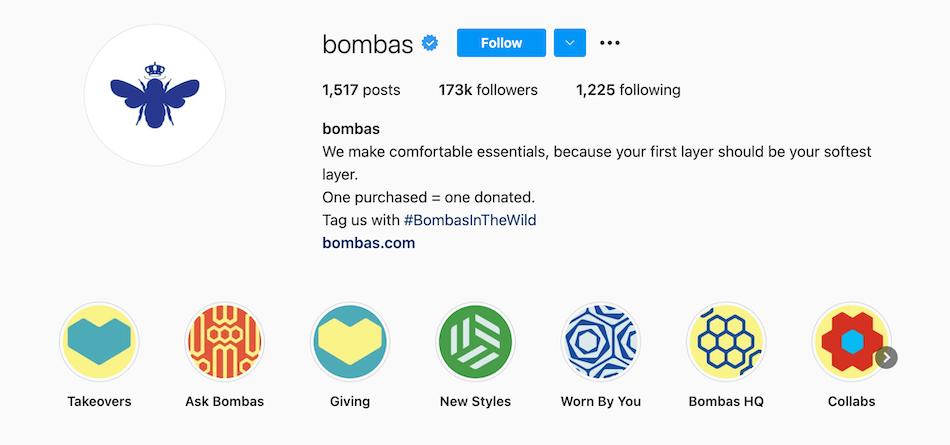 Bombas Instagram highlights