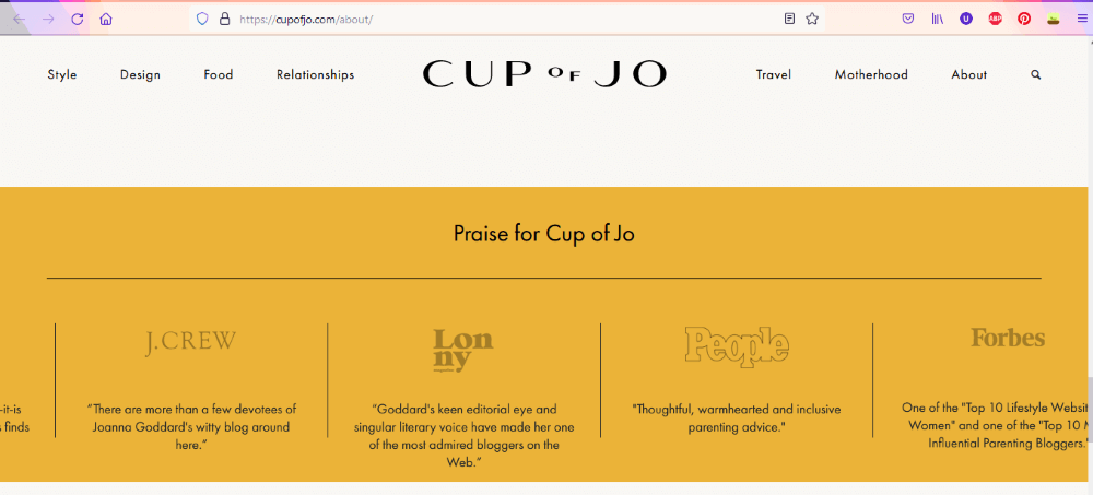 Cup of Jo About Us page
