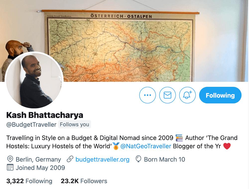 Kash Bhattacharya Twitter Bio