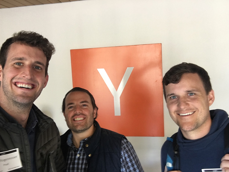 Dave Rogenmoser and the Conversion.ai founders at Y Combinator