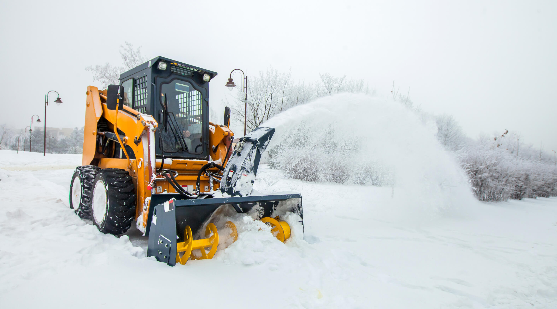 removing snow.