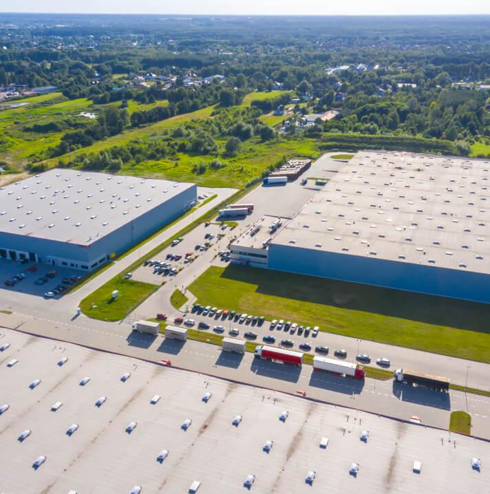 Warehouses.