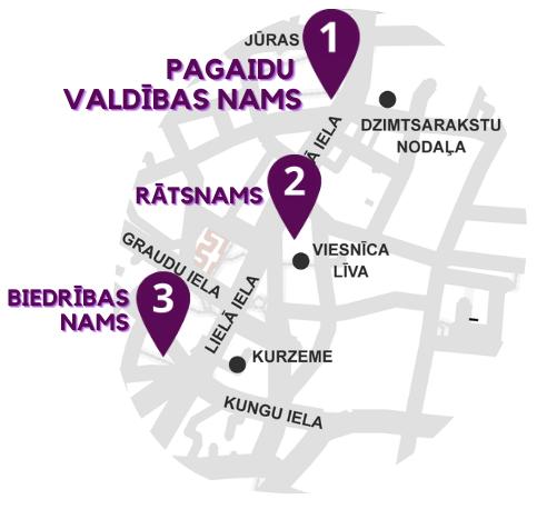 Liepājas pilsētas centra karte
