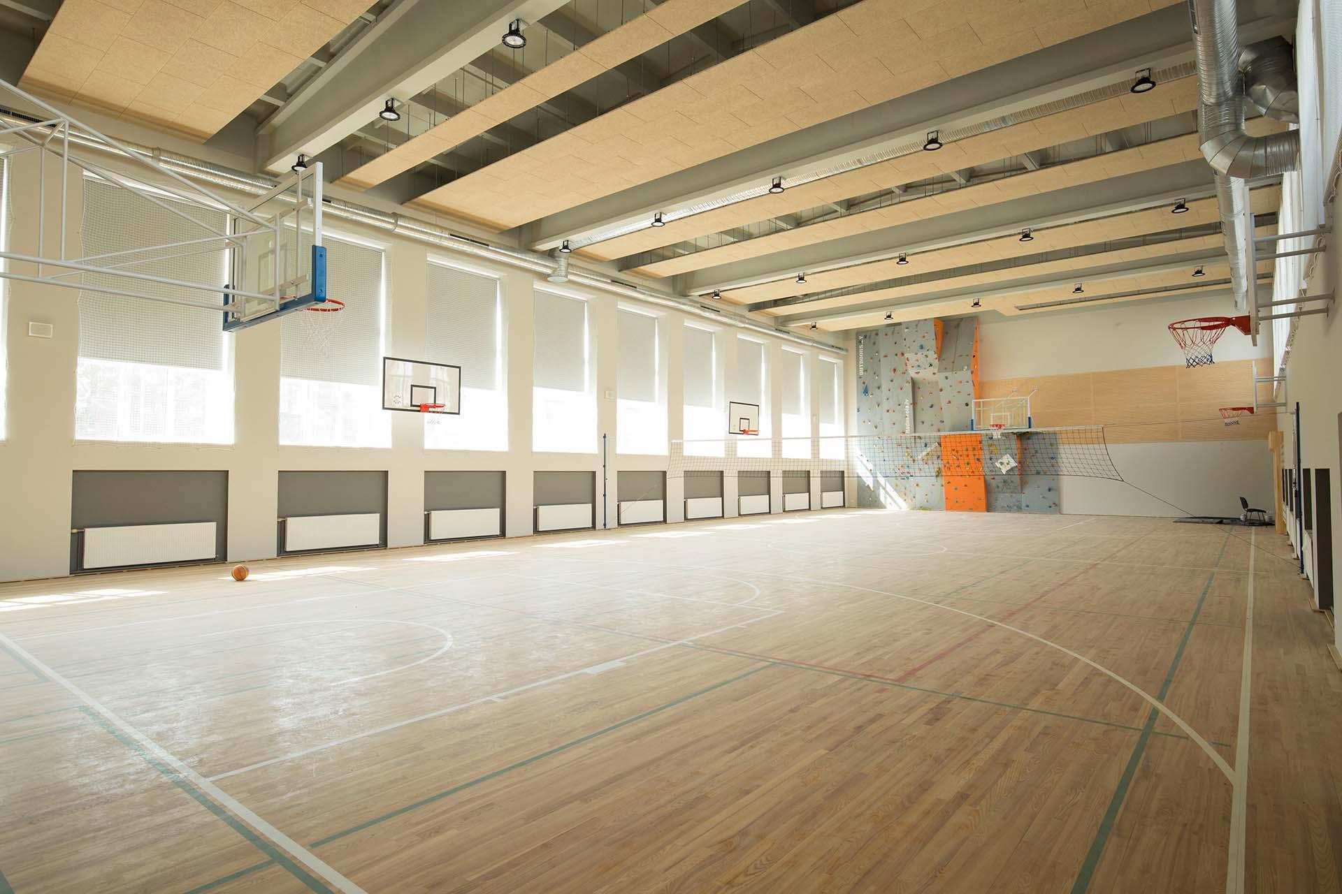 Sporta zāle Liepājas skolā