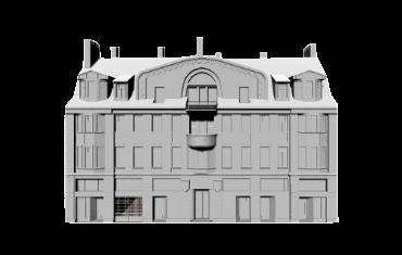 Pagaidu valdības nama 3D modelis
