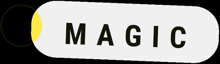 "The word ""magic"" on a shape"