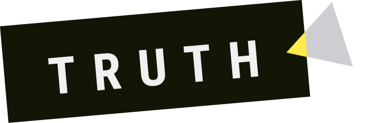 "the word ""truth"" on a shape"