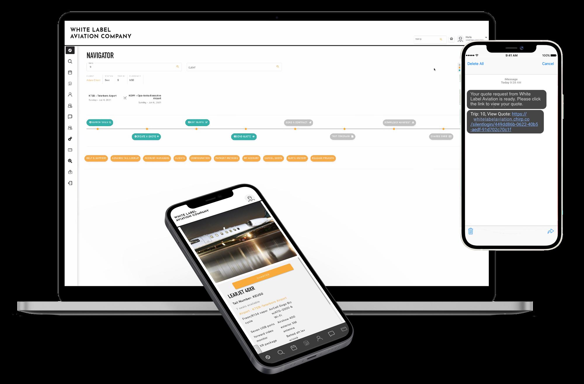 Simplified version of website