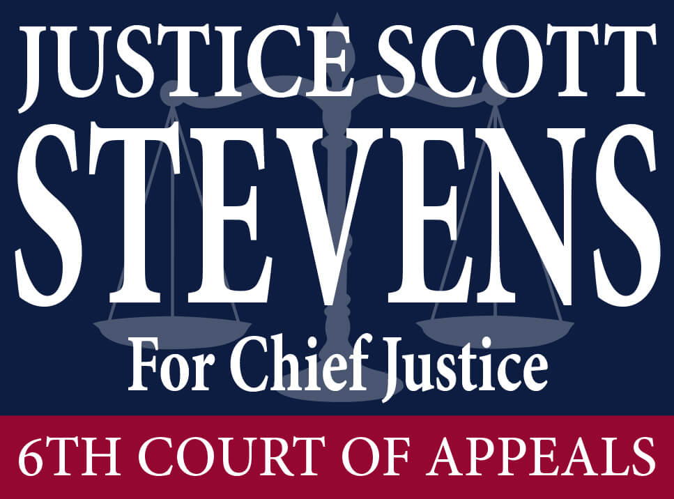Justice Scott Stevens For Chief Justice Campaign Logo