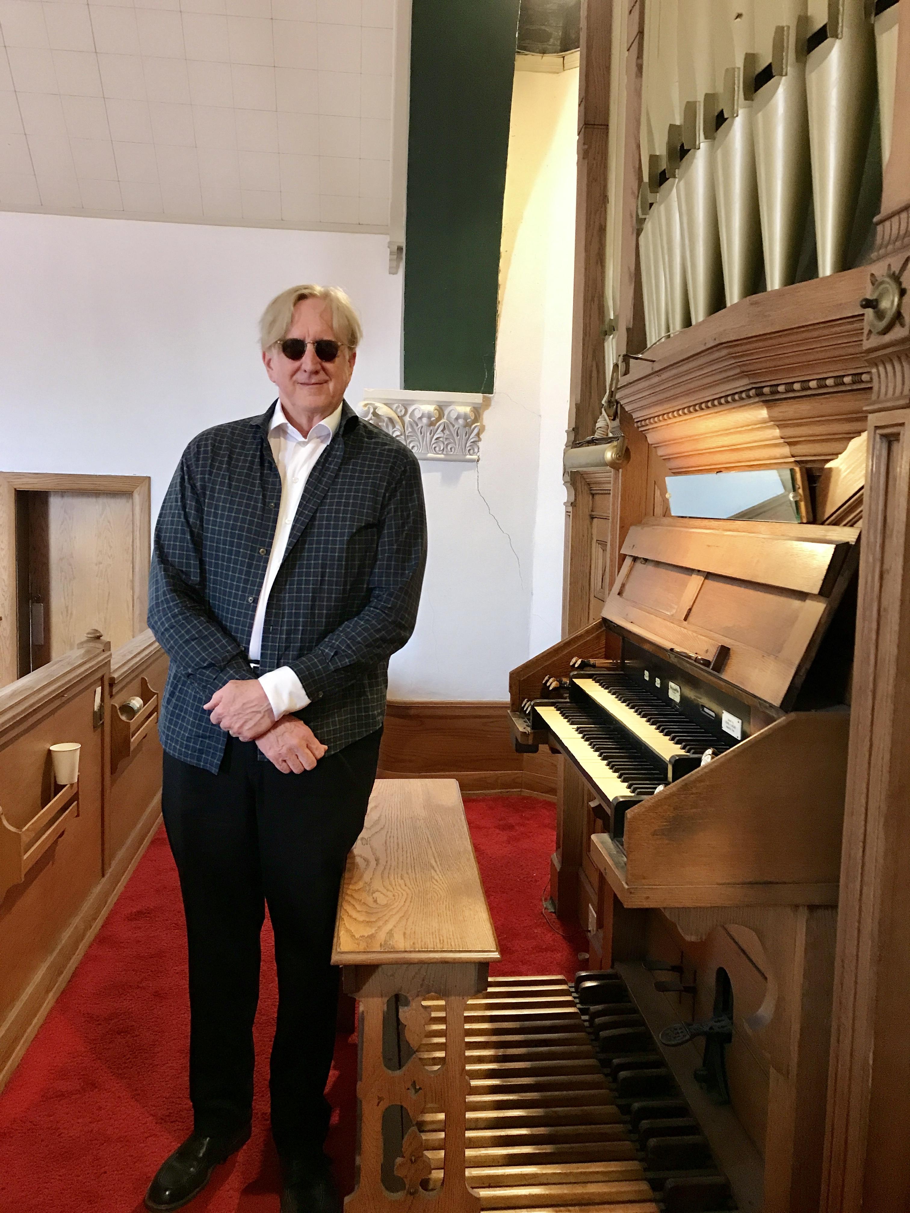 T Bone Burnett and pipe organ
