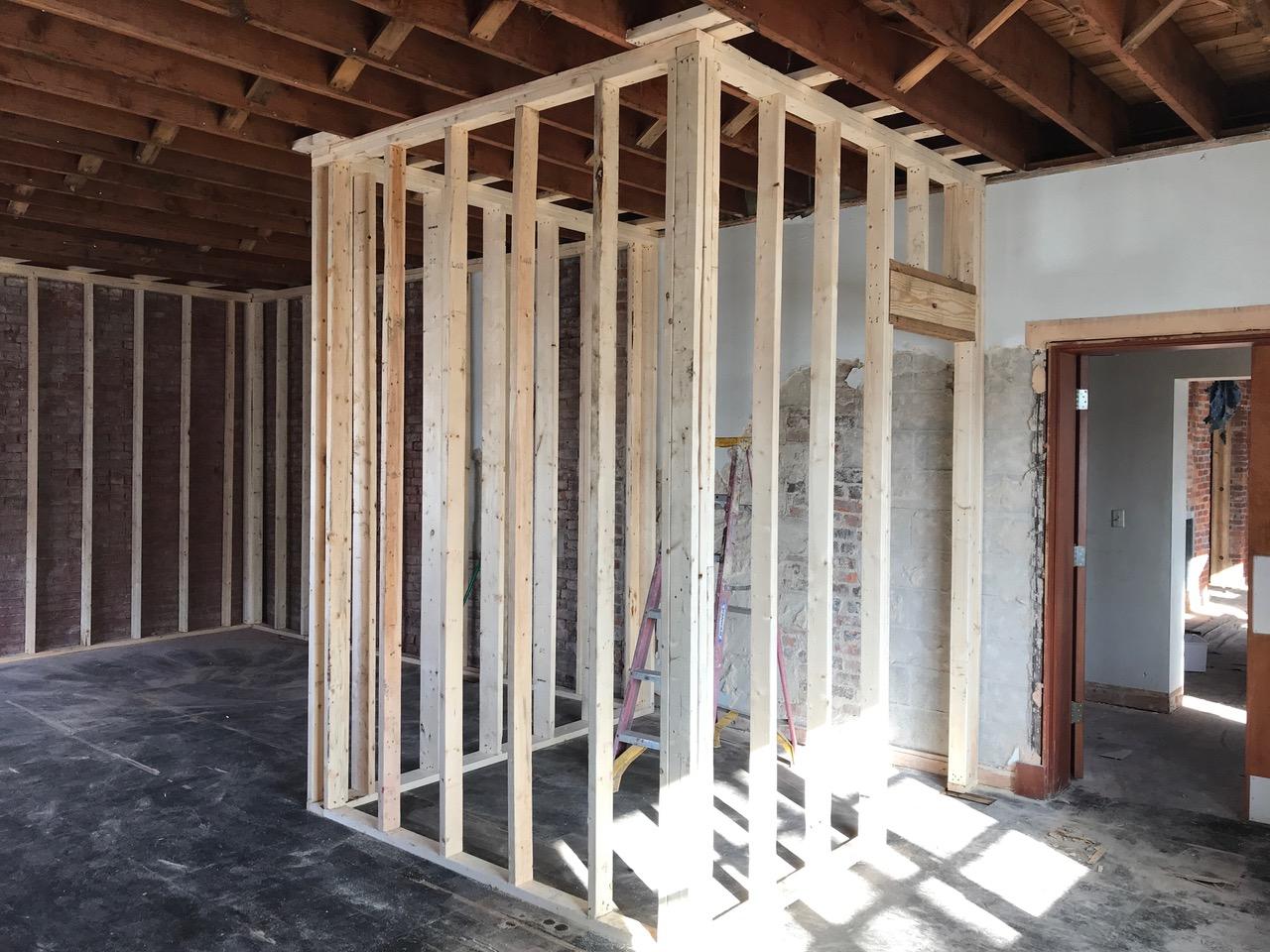 Post demolition, room definition takes shape