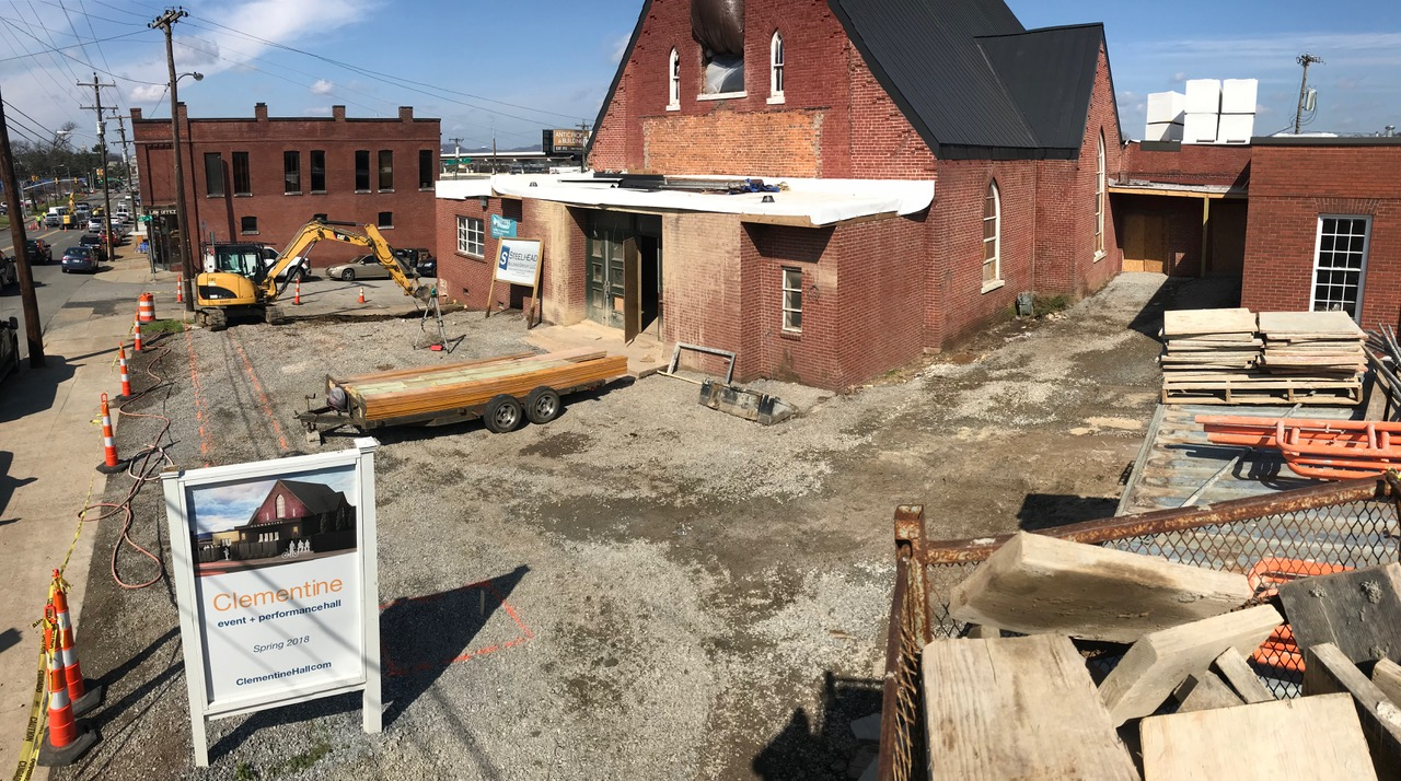 Work turn to the courtyard