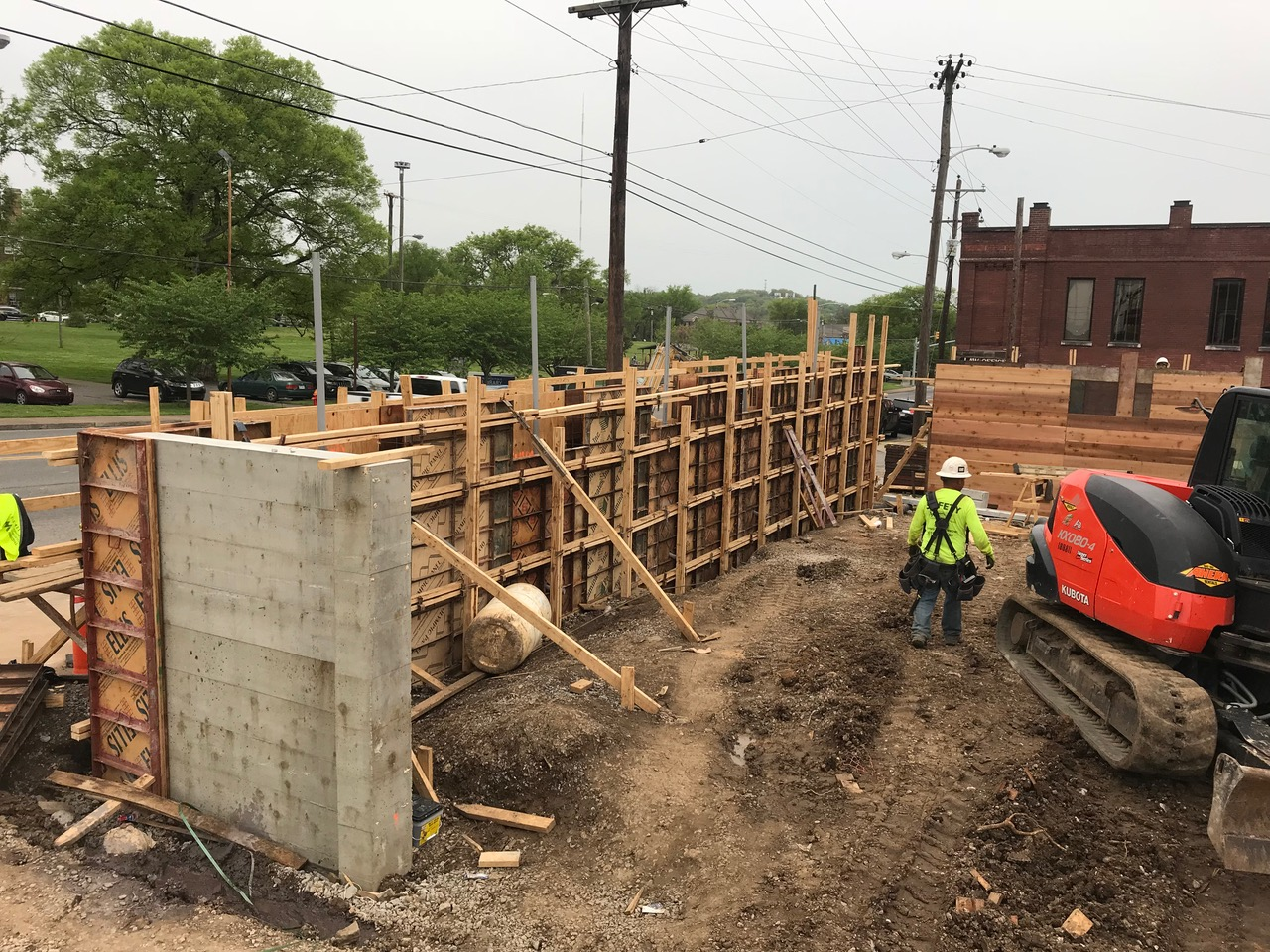 Board-formed concrete walls unveiled