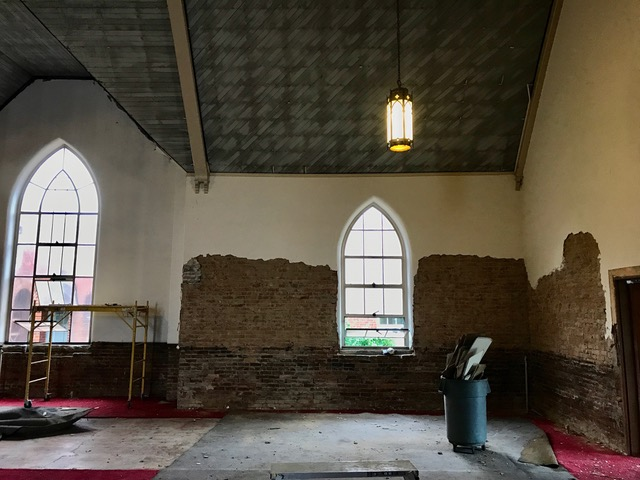 Mortar removal in Adelaide Hall