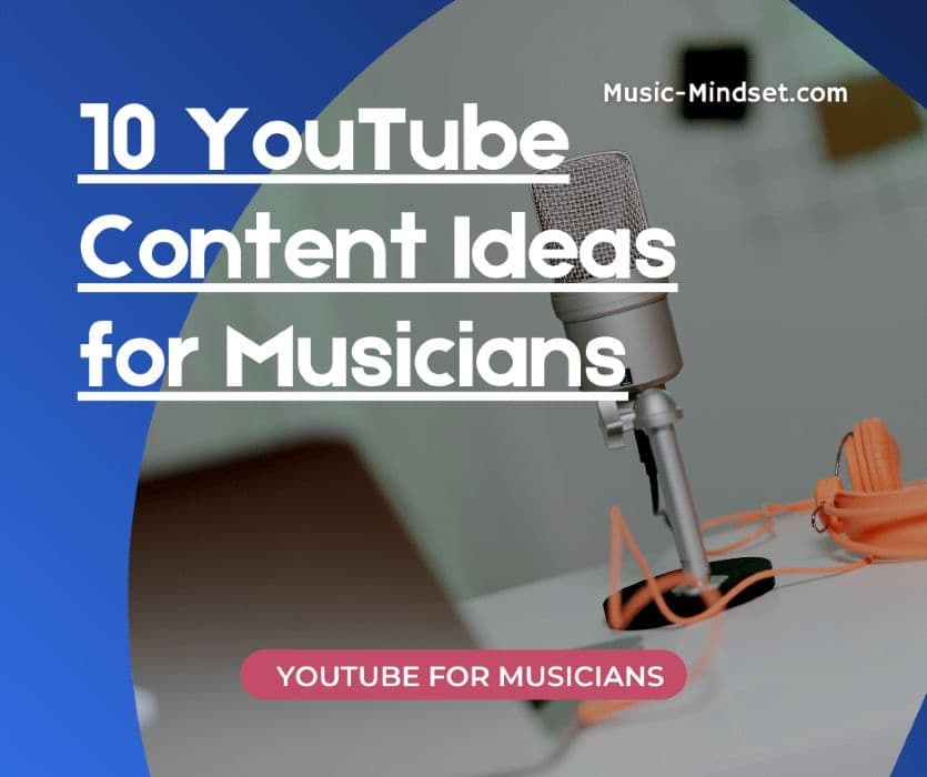 You are not limited to uploading only music videos on YouTube.As a musician, you will have more to share than only your songs and latest album. By doing so, you increase your channel to be found on YouTube AND on Google!