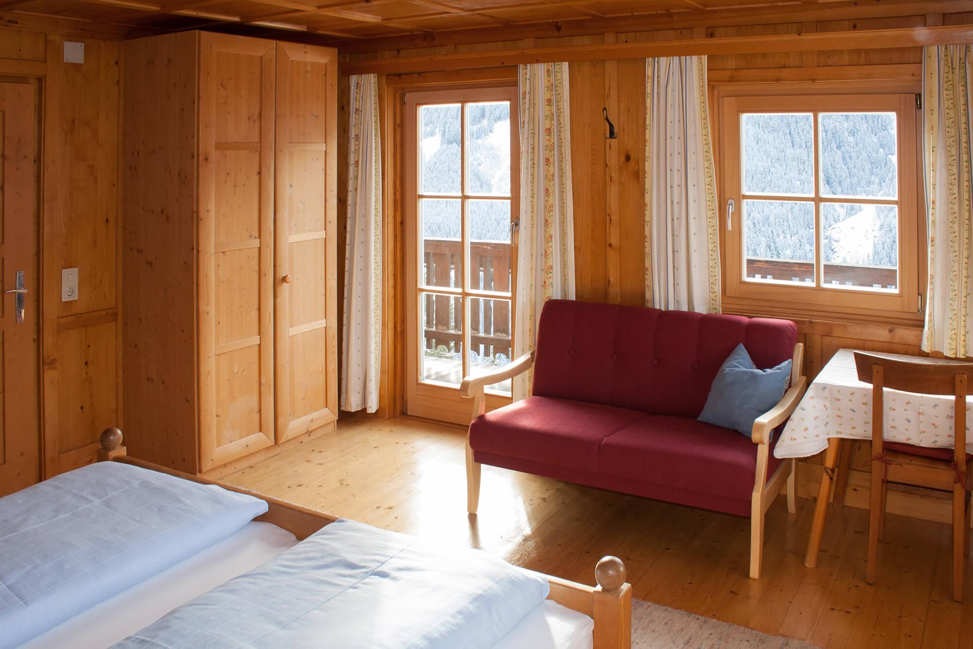 Schlafzimmer Ferienwohnung Almblick