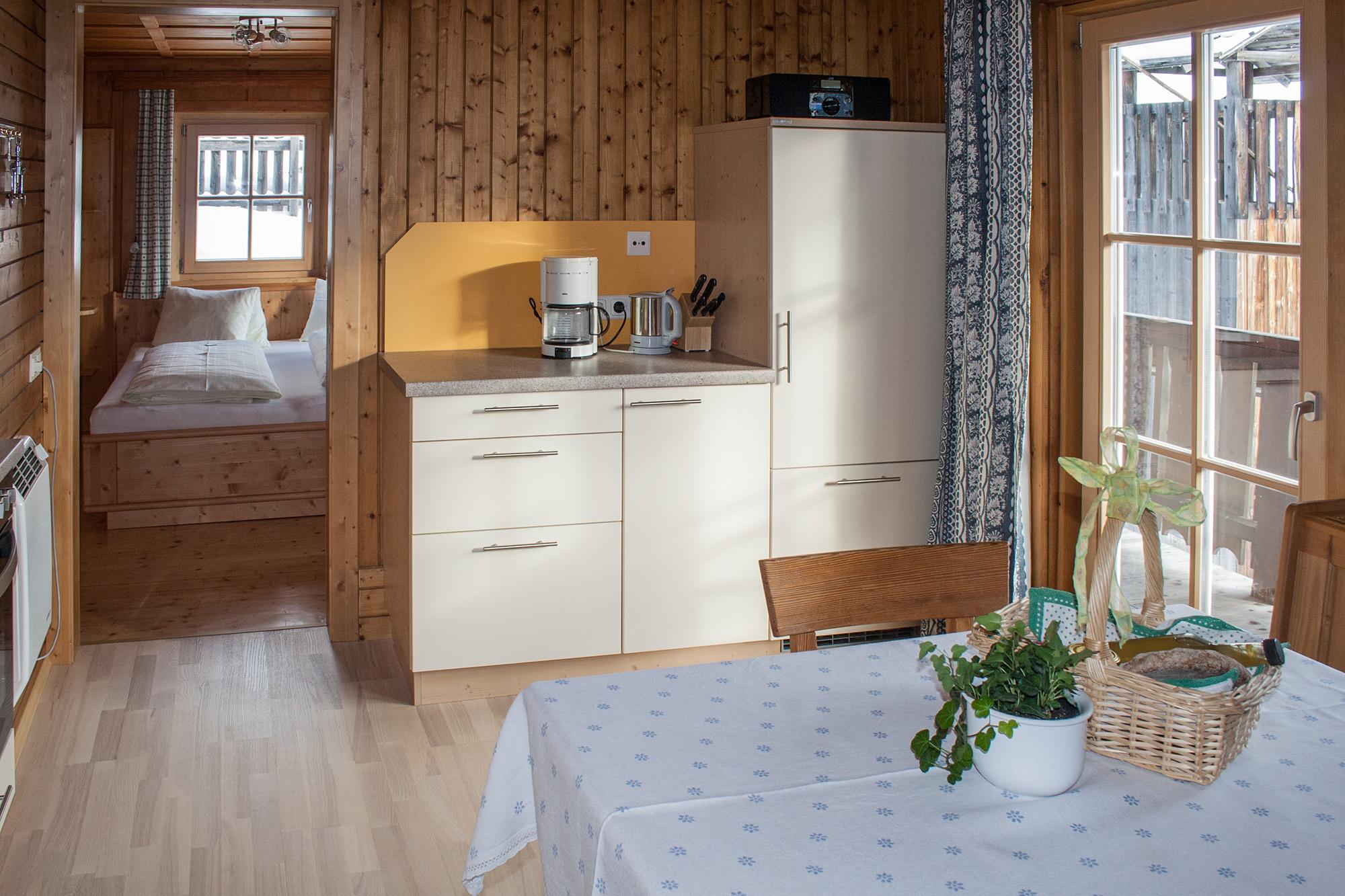 Foto der Küche in der Ferienwohnung Morgensonne.