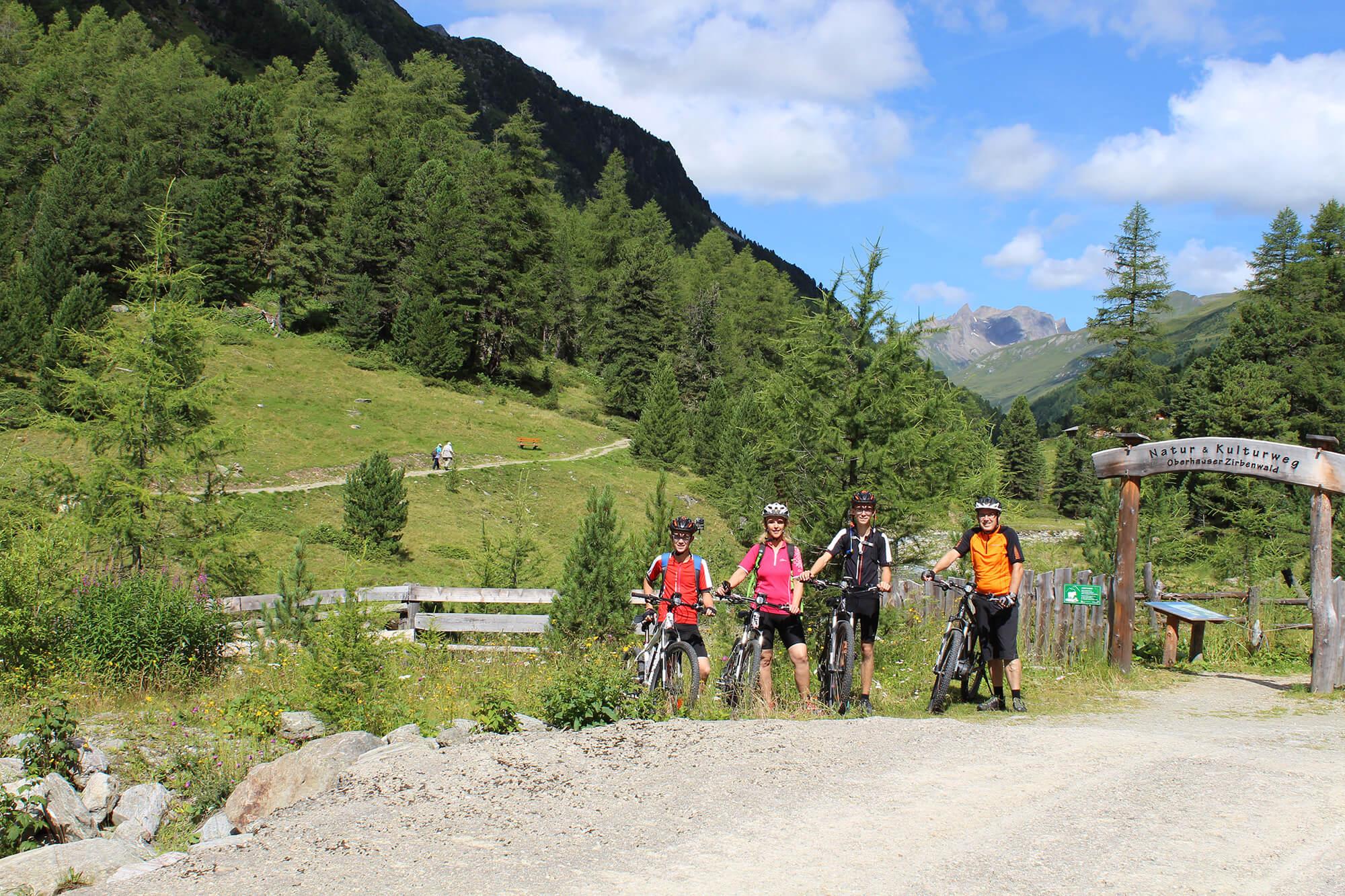 Mountainbiken durch die Berge Osttirols.