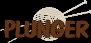 Strickwaren Plunger Logo Wolle Plunger Logo